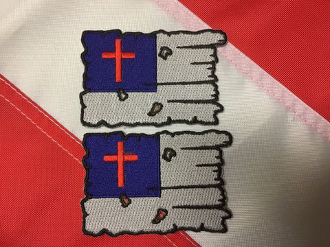 Patch christian tattered flag survive morale CHRISTMAS GIFT you get 2 #617 - Sundance Survival Supply