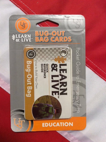 Bug out bag learn&live cards survival gear emergency disaster tactical UST fun