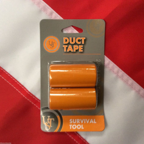 Duct Tape survival camp emergency disaster tactical  UST orange bug out bag tool
