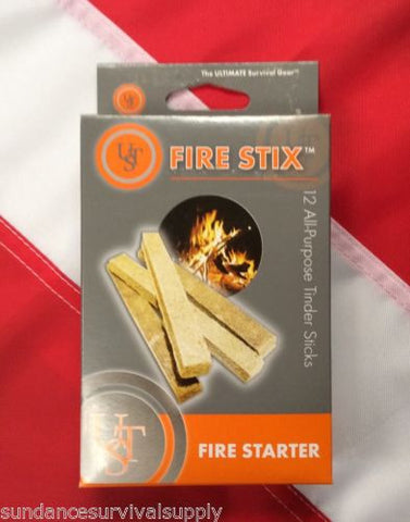 Fire stix fire starter tinder 12pk survival emergency bug out bag prepper UST GIFT