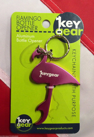 Flamingo bottle opener keys Aluminum disaster camp GIFT survival UST hiking bike