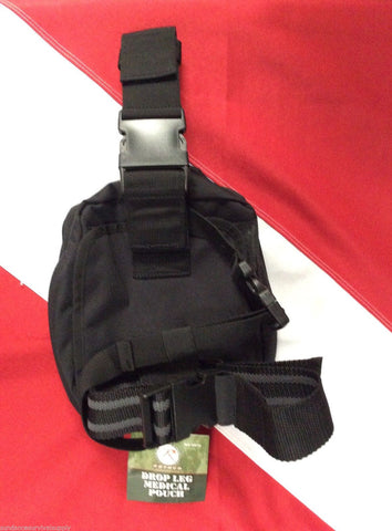 Drop leg medical pouch survival emergency tactical disaster black Rothco 1st aid