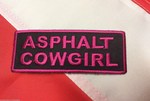 Asphalt cowgirl biker gearFUN patch novelty survival tactical gear military #440