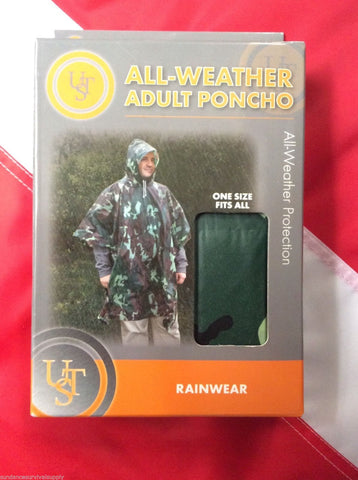 All weather Emergency poncho camo survival bugoutbag disaster tactical equip UST