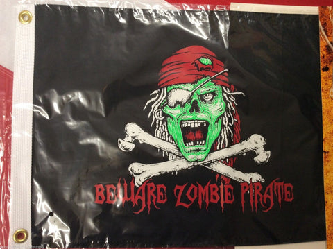 Beware Zombie pirate flag scuba dive equipment novelty  GIFT FUN 12x18