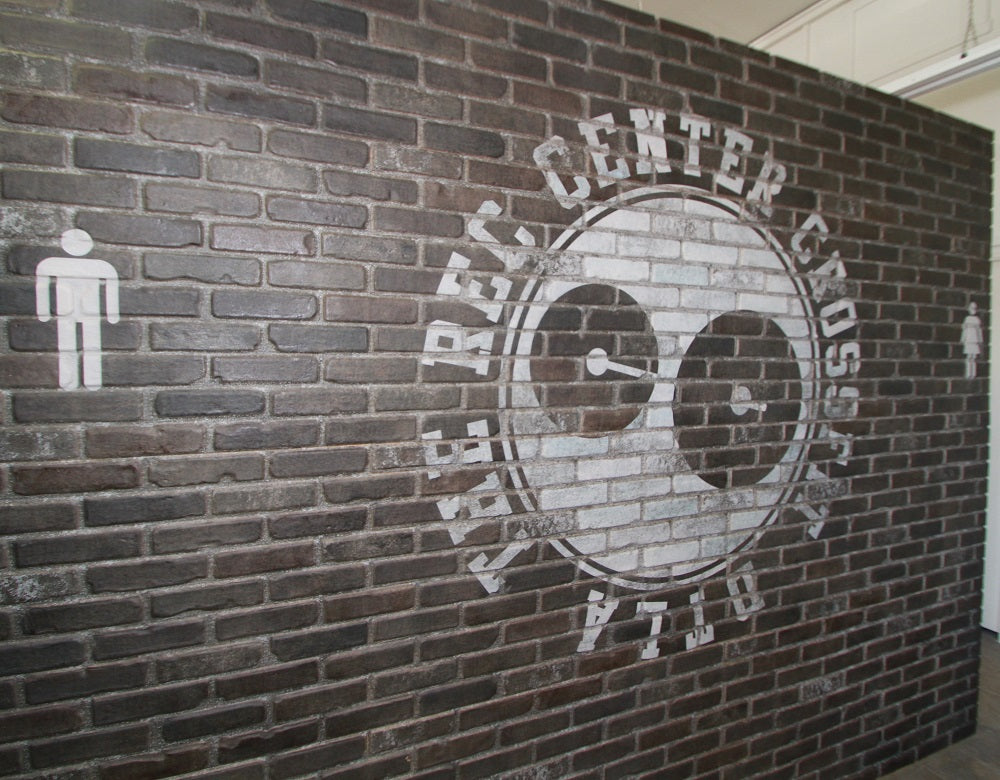 Simple Walls Faux Brick Wall Panels - Alley W/ Custom Logo