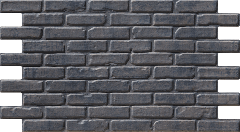 Simple Walls Faux Brick Wall Panels - Blue