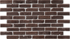 Simple Walls Faux Exposed Brick Wall Panels - Dark Red W/ Grout