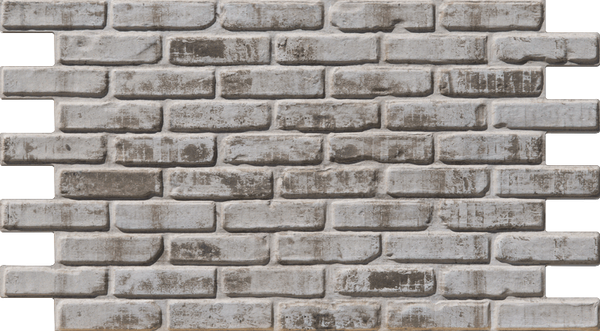 Simple Walls Faux Brick Wall Panels - Dirty White