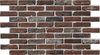 Simple Walls Faux Exposed Brick Wall Panel - Laurel W/ White Grout