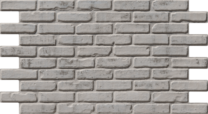 Simple Walls Faux Brick Wall Panels - White