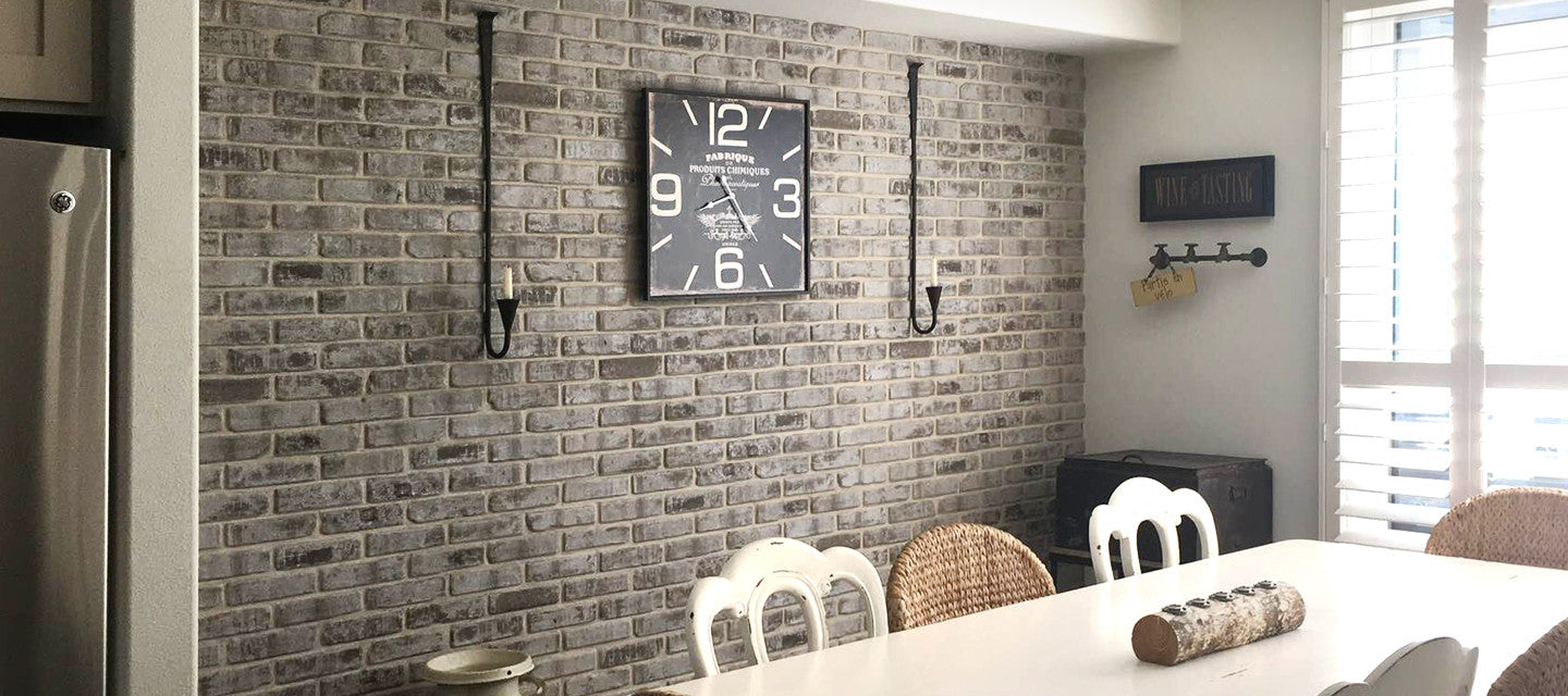 DIY 3D FAUX BRICK WALLS