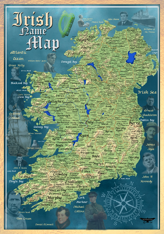 IRISH HISTORICAL SURNAME MAP
