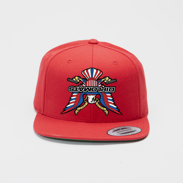 Upside Down Diplomats Snapback-Red