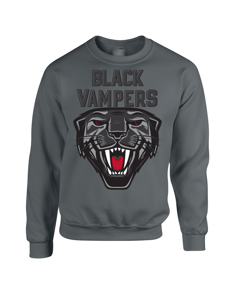Black Vampers Crewneck-Charcoal