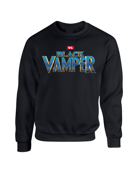 Logo Black Vamper Crewneck-Black