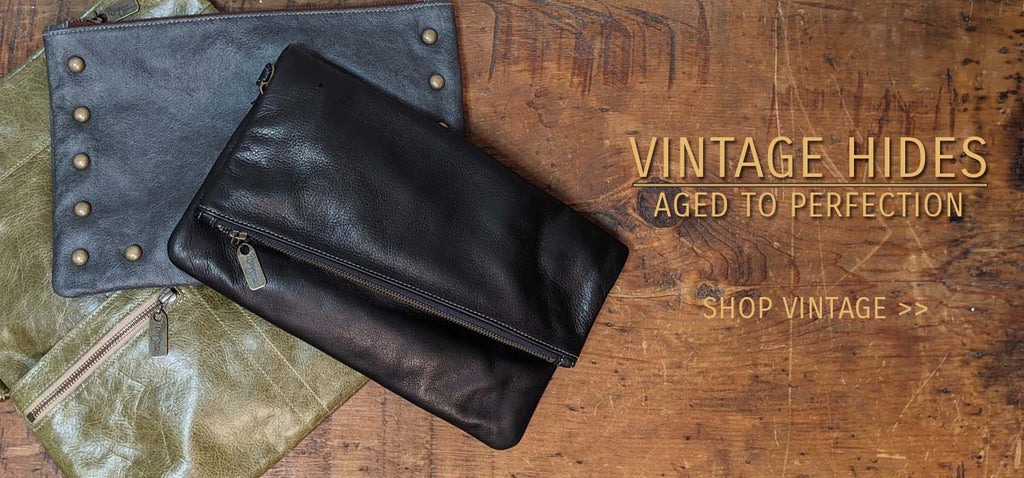 Vintage Leather, Distressed Leather, Pull-up Leather, Brynn Capella, USA