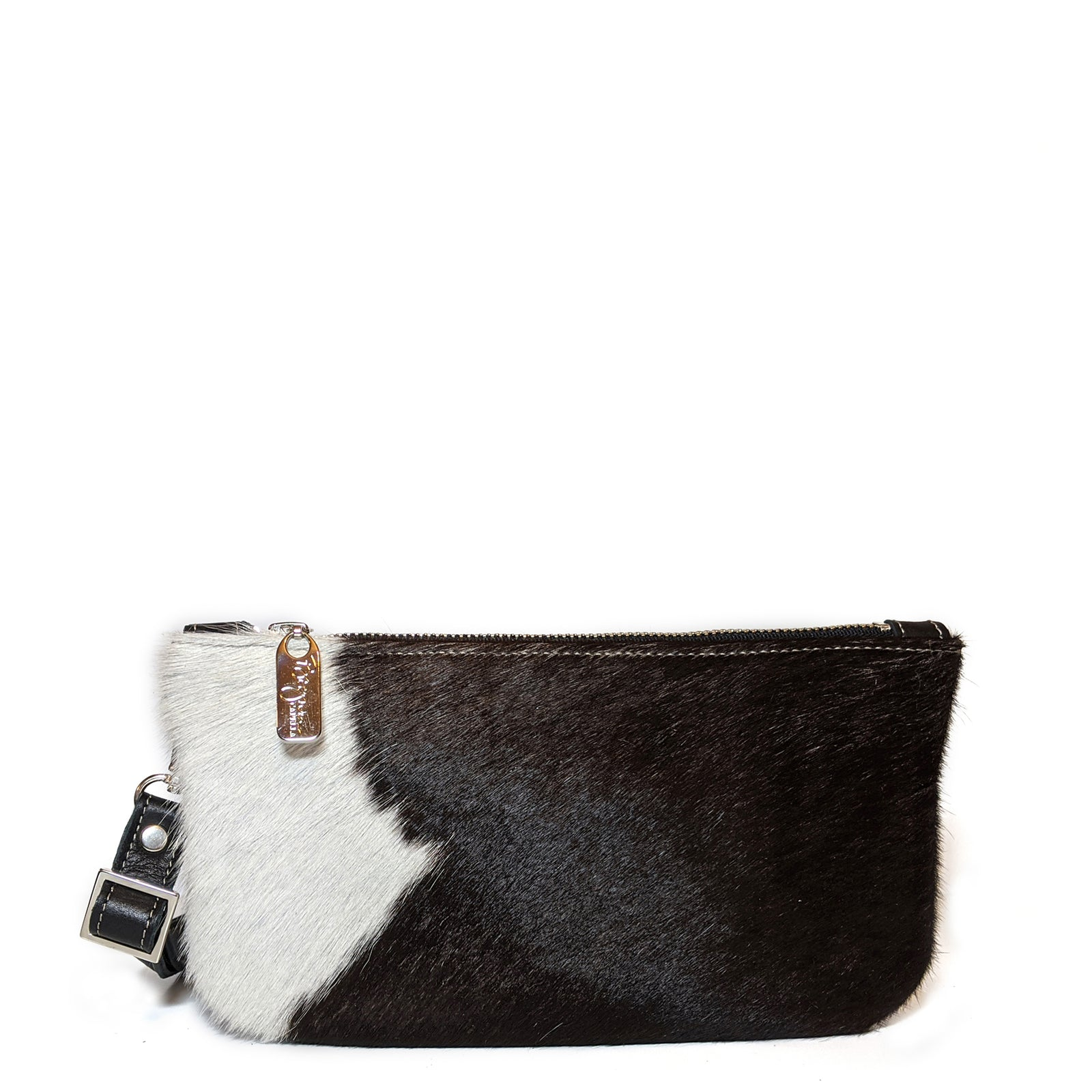 Black & White Hairon Mini Crossbody, Belt Bag, Made in the USA