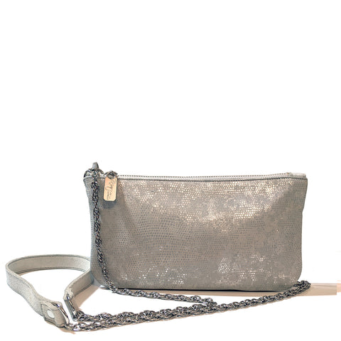 Cher Chain Crossbody - Black Lizard