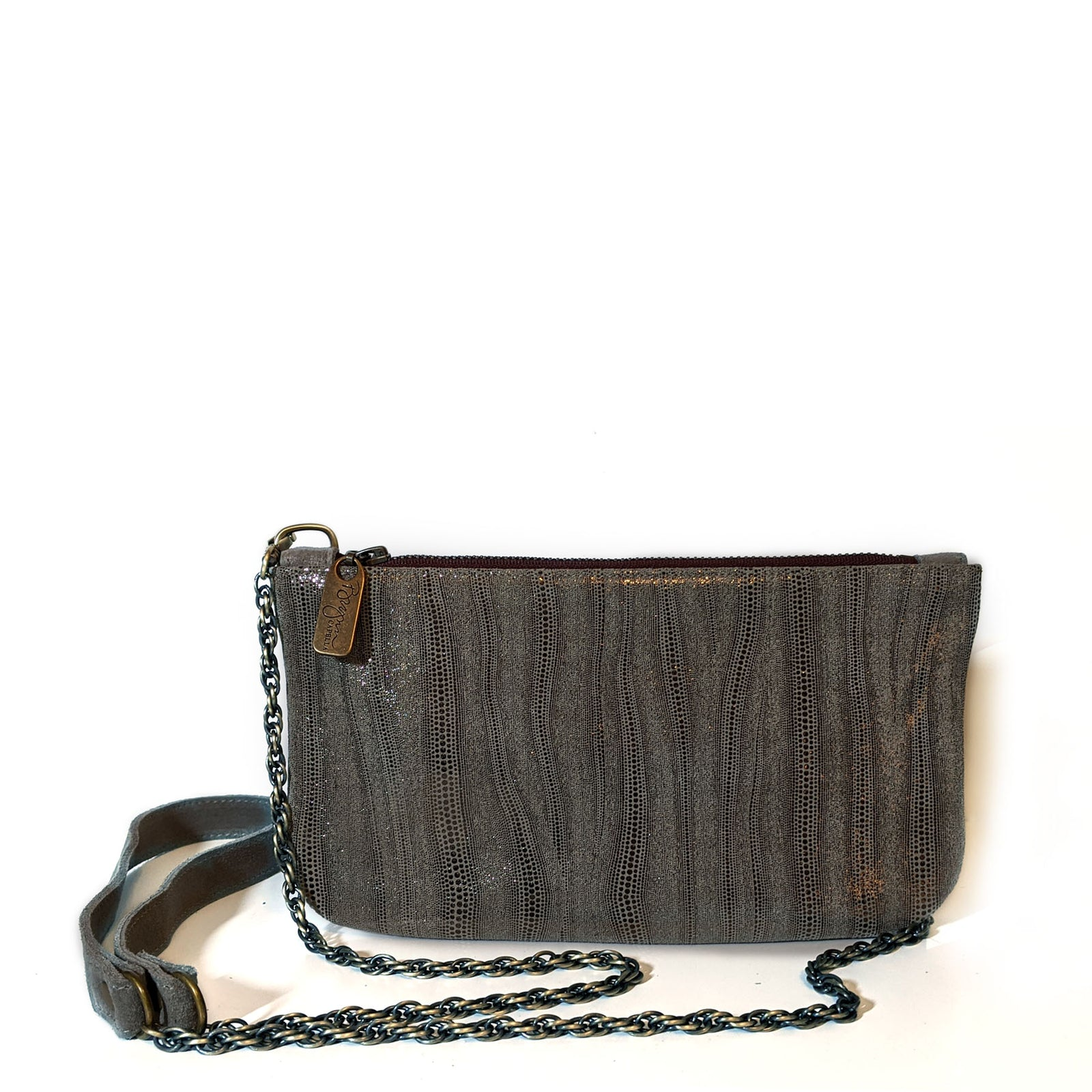 Cher Chain Crossbody - Grey Eel Point