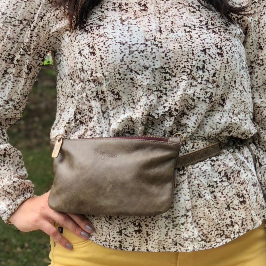 Cher Belt Bag / Crossbody - Olive Branch - Brynn Capella, Mini Crossbody