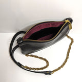 Mini Black Onyx Metallic Leather Crossbody, Made in the USA by Brynn Capella