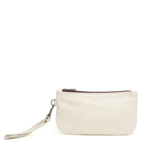 Cher Large Wristlet - White Russian
