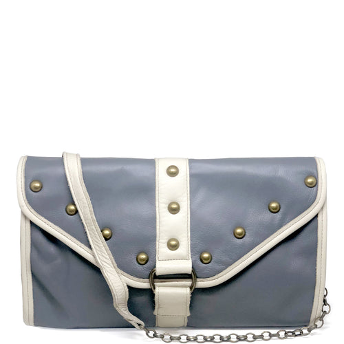 Heather Oversized Clutch - Greyhound