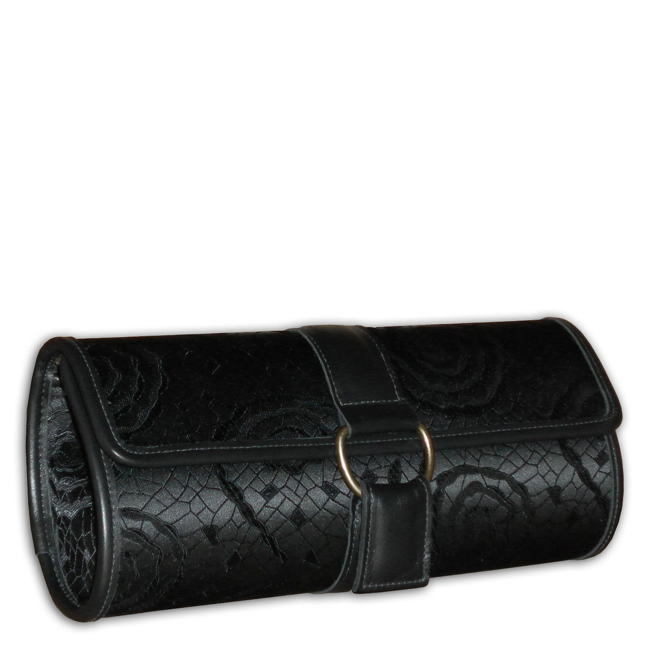 Janey clutch - Black Swirl