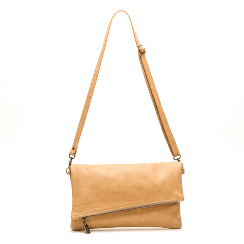 Jenne Foldover Crossbody - Gold Dust - Brynn Capella, Clutch