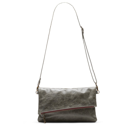 Jenne Foldover Crossbody - River Rock - Brynn Capella, Clutch