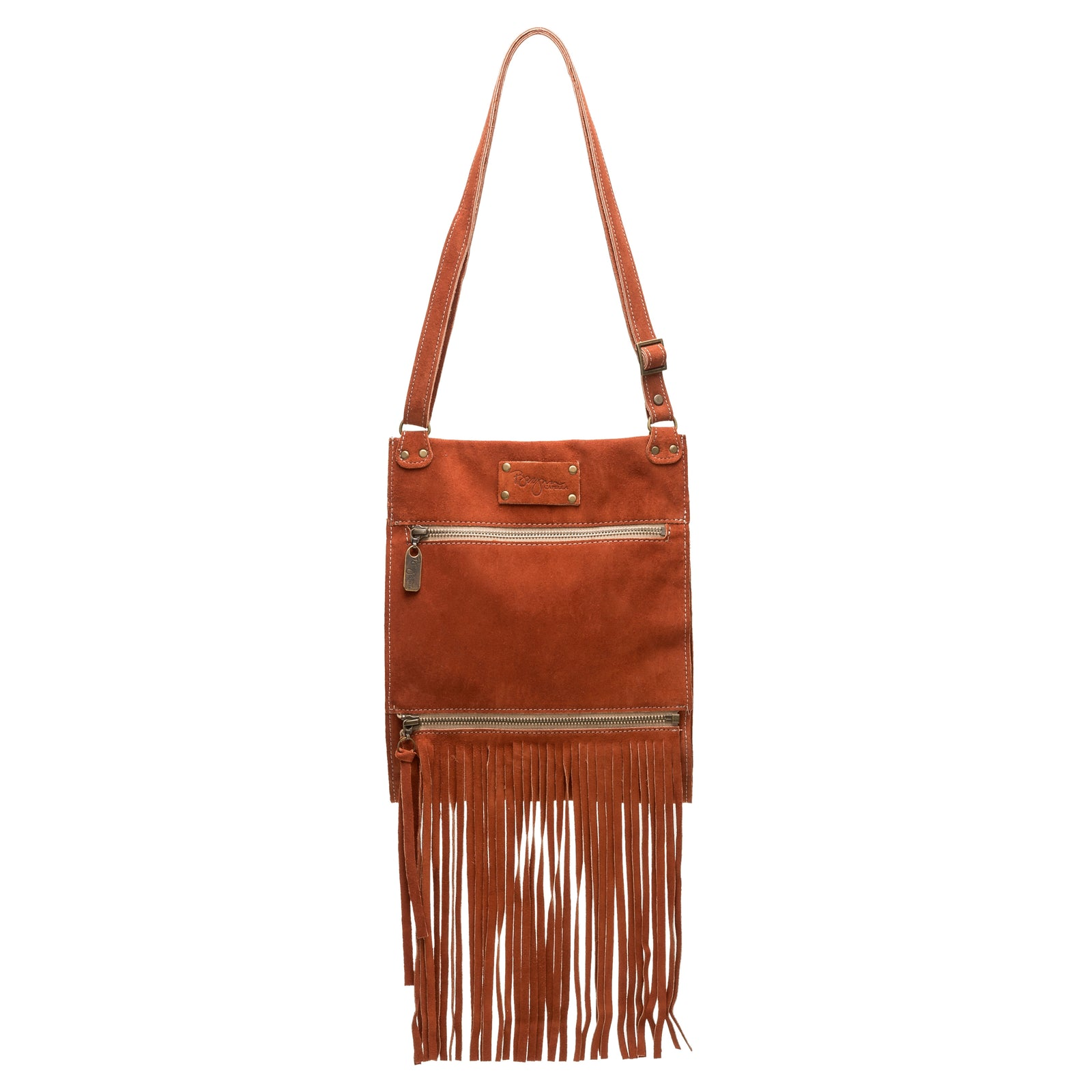 Kari Fringe Crossbody - Cinnamon - Brynn Capella, Small Crossbody