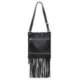 Kari Fringe Crossbody - Noche - Brynn Capella, Small Crossbody