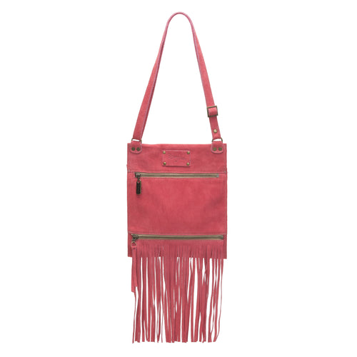 Kari Fringe Crossbody - Watermelon - Brynn Capella, Small Crossbody