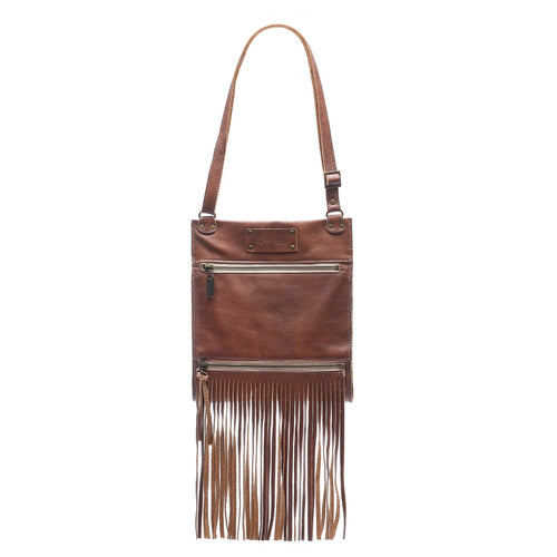 Kari Fringe Crossbody - Wooden Tiki - Brynn Capella, Small Crossbody