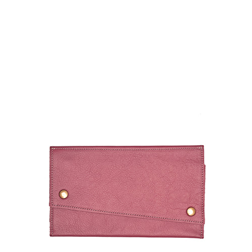 Kimerly Tri-fold Wallet - Rosewood