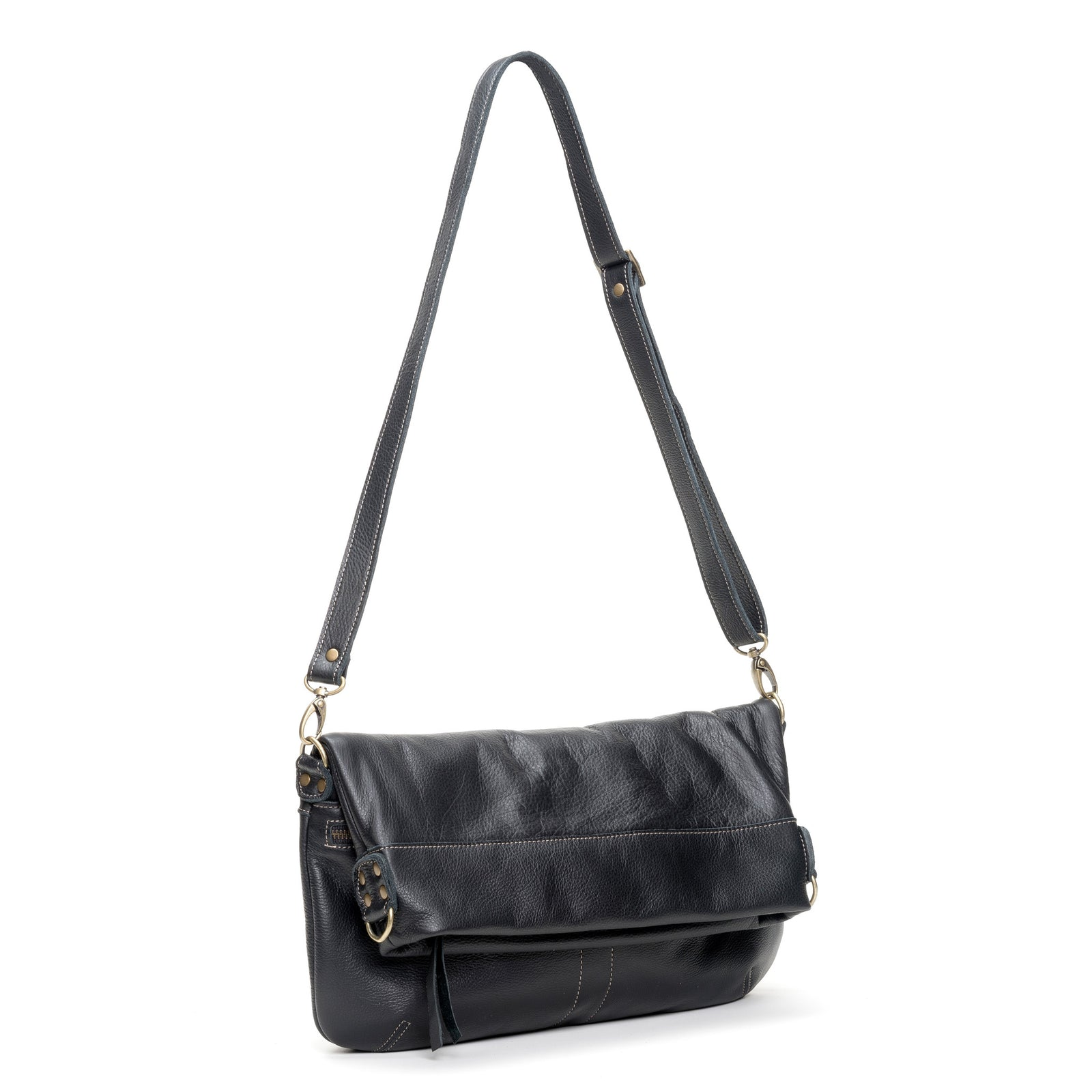 Lauren Crossbody - Caviar - Brynn Capella, Large Crossbody
