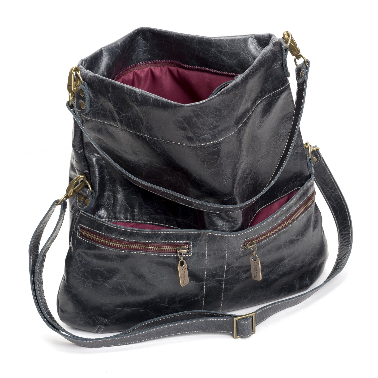 Lauren Crossbody - Panther - Brynn Capella, Large Crossbody