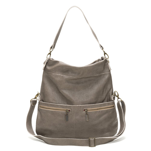 Lauren Crossbody - Cobblestone - Brynn Capella, Large Crossbody