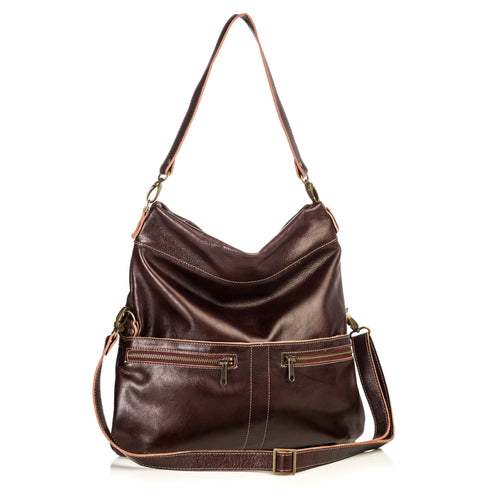 Lauren Crossbody - Mahogany - Brynn Capella, Large Crossbody