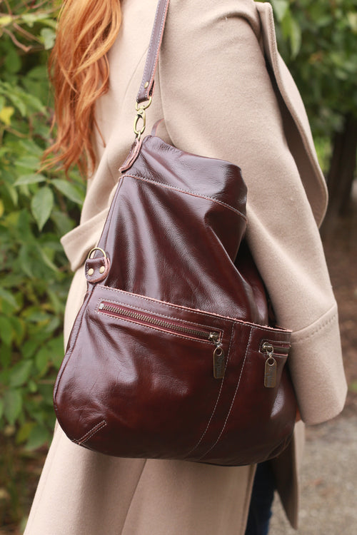 Lauren Crossbody - Mahogany