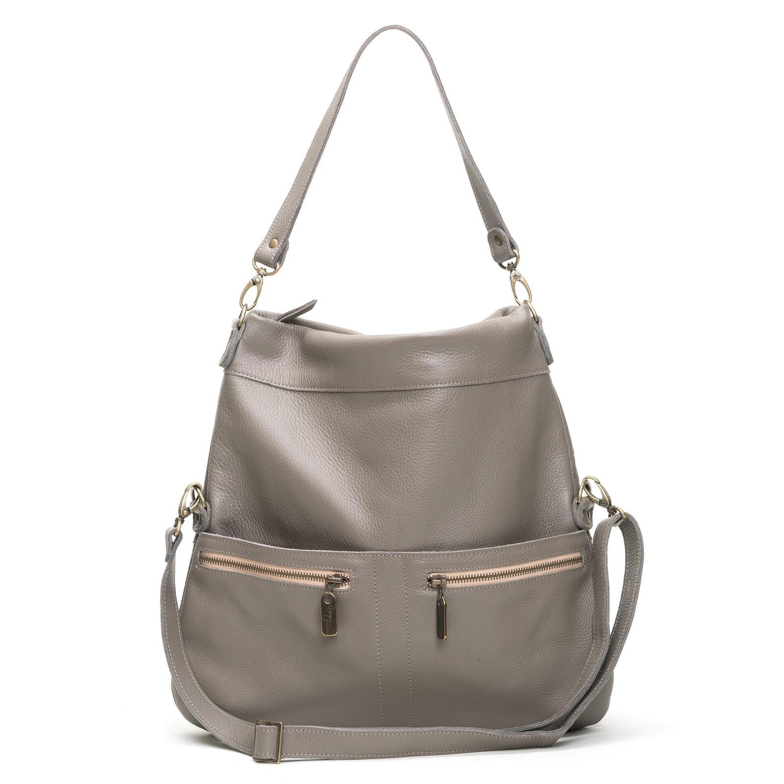 Lauren Crossbody - Oyster Shell - Brynn Capella, Large Crossbody