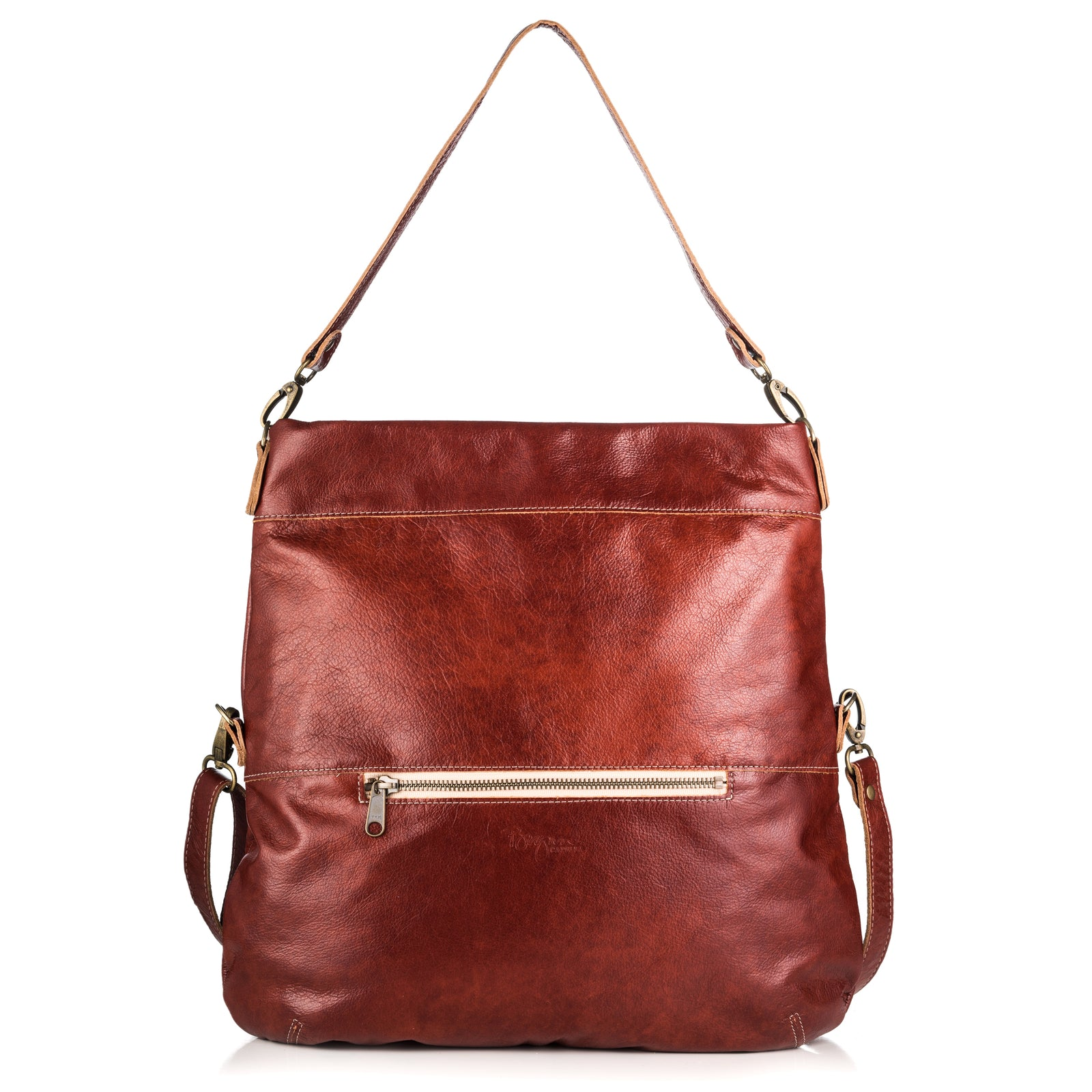 Lauren Crossbody - Rustic Clay - Brynn Capella, Large Crossbody