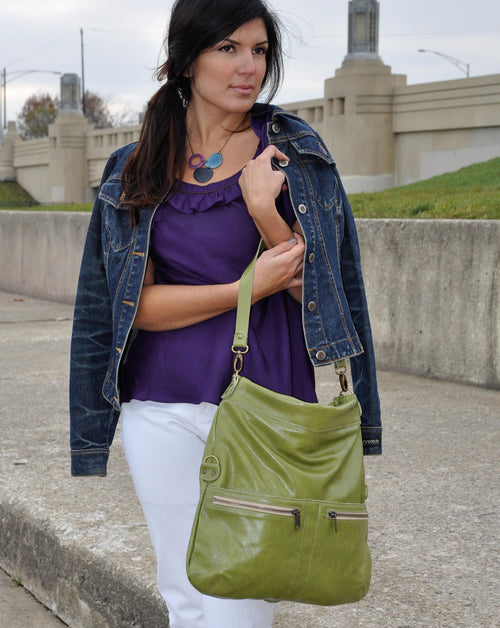 Lauren Crossbody - Verde Di Palma - Brynn Capella, Large Crossbody