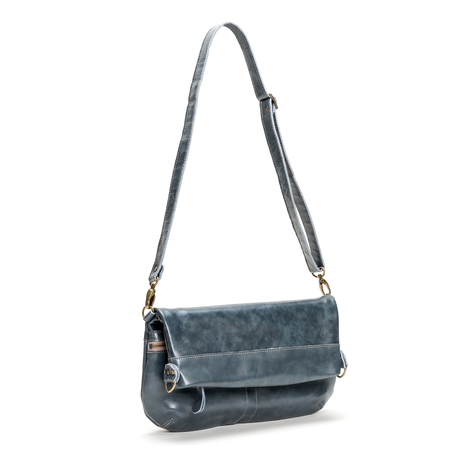 Mini-Lauren Crossbody - Blue Bayou - Brynn Capella, Medium Crossbody