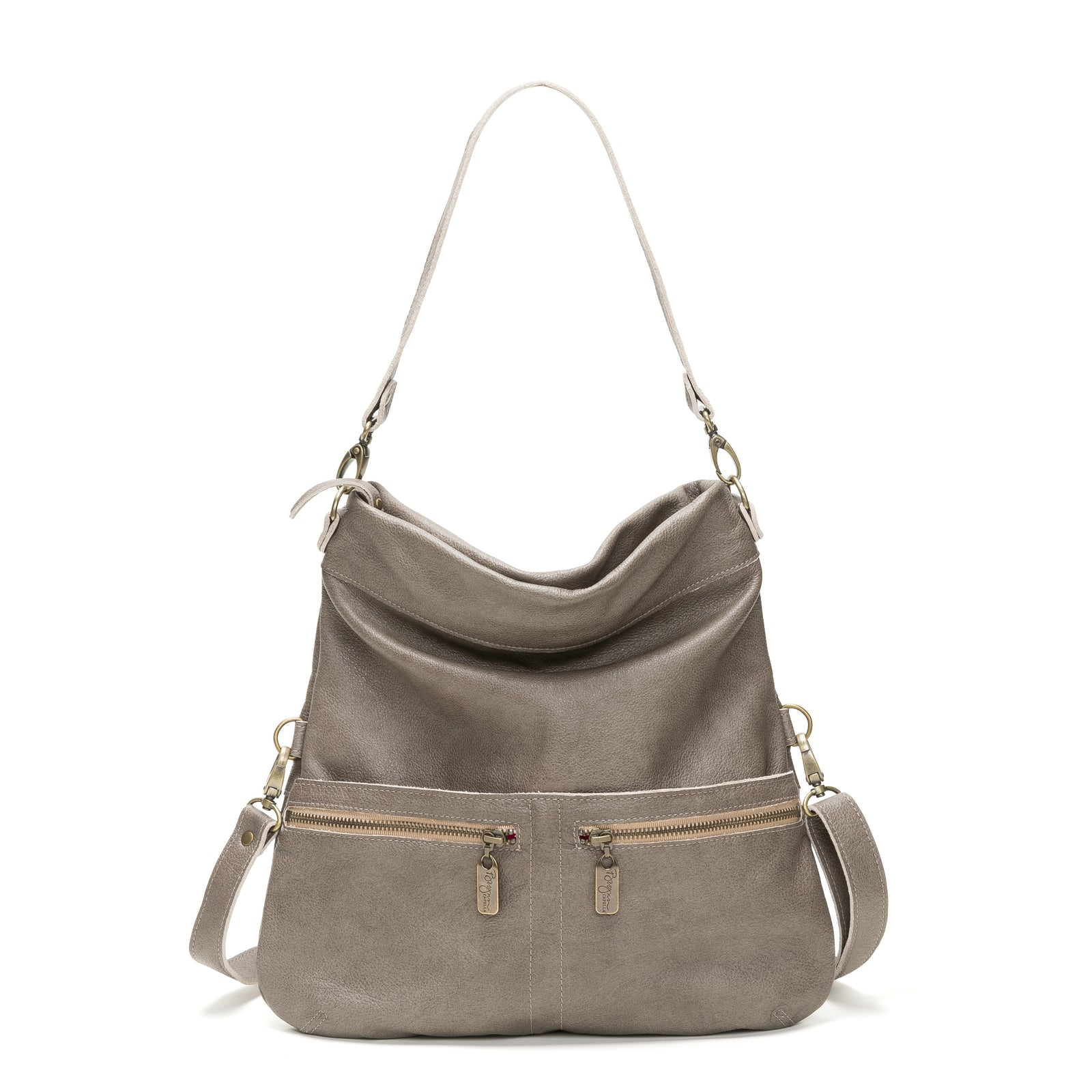 Mini-Lauren Crossbody - Cobblestone - Brynn Capella, Medium Crossbody