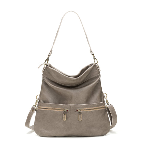 Nikki Clutch/Crossbody - Grey Eel Point