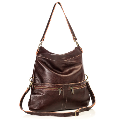 Mini-Lauren Crossbody - Mahogany