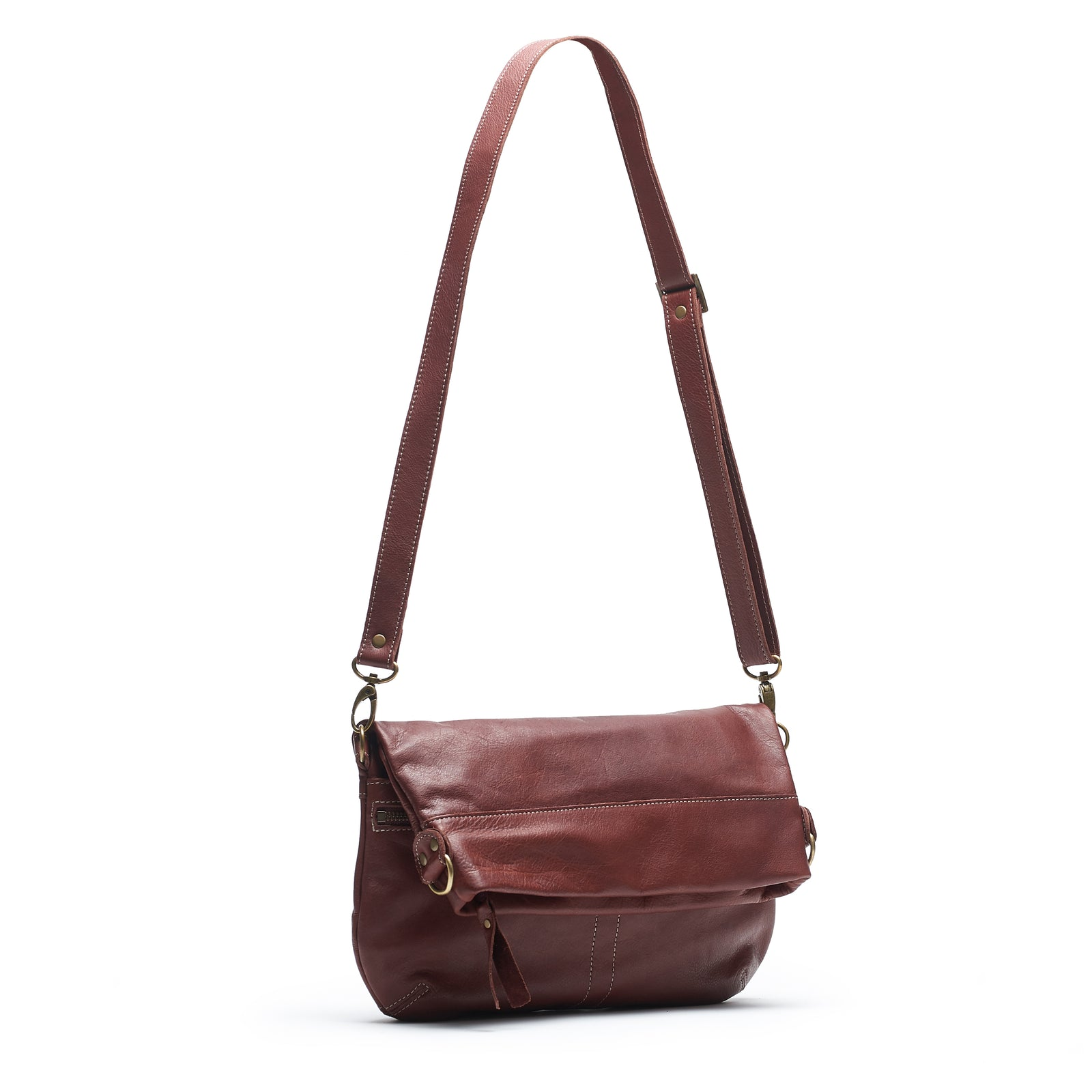 Mini-Lauren Crossbody - Merlot - Brynn Capella, Medium Crossbody