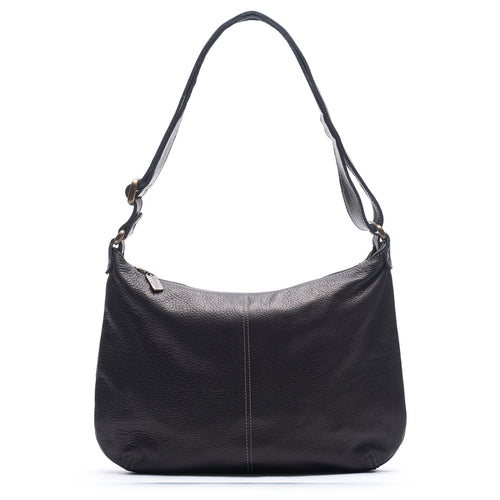 Mini Pamela Crossbody Hobo - Black Sand - Brynn Capella, Hobo
